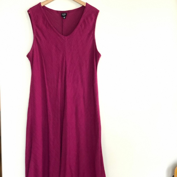 Eileen Fisher Dresses & Skirts - Eileen Fisher linen shift dress in berry